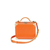 Aspinal Of London Women's Mini Trunk Clutch Bag Orange