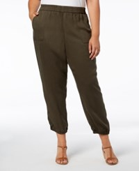 Styleandco. Style Co Plus Size Casual Joggers Deep Moss