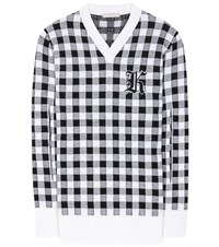Christopher Kane Gingham Wool Cashmere And Virgin Wool Sweater Multicoloured