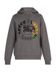 Burberry Knight Embroidered Hooded Sweatshirt Grey