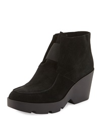 Treat Wedge Desert Boot Black Eileen Fisher