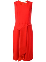 Givenchy Tie Front Shift Dress Red