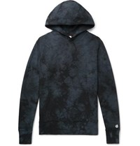 Todd Snyder Champion Tie Dyed Loopback Cotton Jersey Hoodie Black