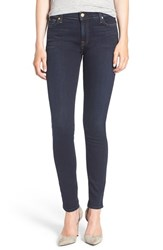 7 For All Mankindr Women's Mankind Skinny Jeans Dark Dusk Indigo