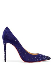 Christian Louboutin Gravitanita 100Mm Suede Pumps Blue Multi