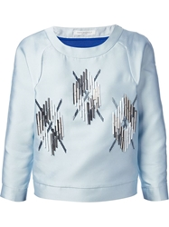 Viktor And Rolf Cropped Boxy Sweater Blue