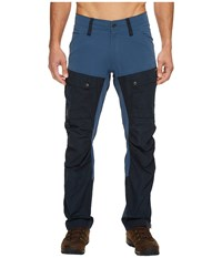 Fjall Raven Keb Trousers Dark Navy Uncle Blue Men's Casual Pants
