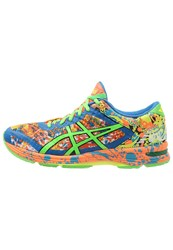 Asics Gelnoosa Tri 11 Lightweight Running Shoes Hot Orange Green Gecko Electric Blu