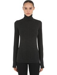 Falke Long Sleeve Shirt Ski Top Black