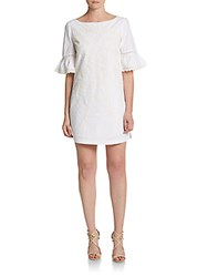 Cynthia Steffe Noelle Embroidered Shift Dress Ivory