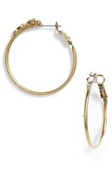Sorrelli Sorelli Sweet Pea Hoop Earrings White