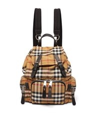 Burberry Vintage Check Mini Canvas Backpack Brown Multi