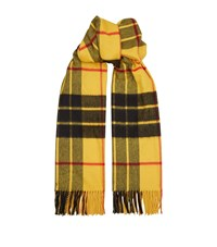 Johnstons Tartan Cashmere Scarf Yellow