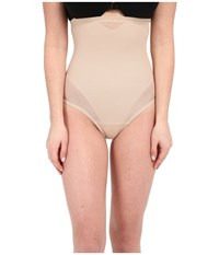 Miraclesuit Sheer Extra Firm Shaping High Waist Thong Nude Women's Underwear Beige