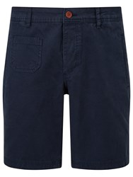 John Lewis And Co. Linen Workwear Shorts Navy
