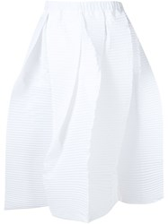 Sofie D'hoore Full Pleated Skirt White