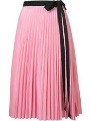 Tome 'Pleated Wrap' Skirt Pink Purple