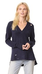 Feel The Piece Moore Sweater Navy Heather