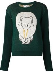 Infanonymous Elephant Intarsia Sweater Green