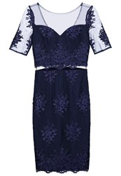Chi Chi London June Cocktail Dress Party Dress Navy Dark Blue