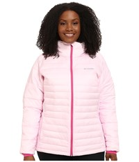 Columbia Plus Size Tested Tough In Pink Hybrid Jacket Isla Women's Coat Blue