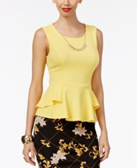 Thalia Sodi Textured Peplum Necklace Top Only At Macy's Bumble Bee
