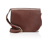 Barneys New York Women's Saddle Bag Dark Brown