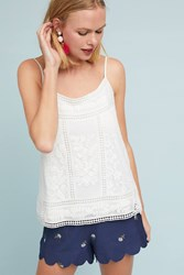 Meadow Rue Laney Embroidered Cami Ivory