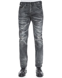 Prps Demon Crease Wash Slim Fit Denim Jeans Dark Gray