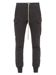 Rick Owens Babel Cotton Cargo Track Pants Grey