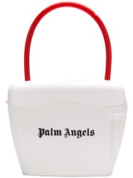 Palm Angels Contrast Logo Tote Bag White