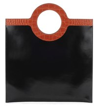 Givenchy Flat Leather Tote Black