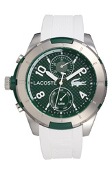 Lacoste 'Tonga' Round Silicone Strap Watch 50Mm White Silver Green