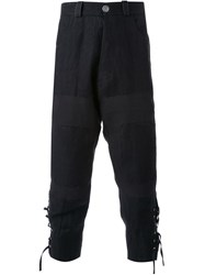 Aganovich Tapered Cropped Trousers Black