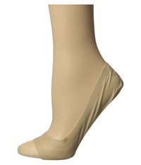 Hue Perfect Edge Peep Toe Liner 3 Pack Cream Women's Crew Cut Socks Shoes Beige