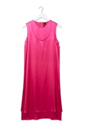 Double Layer Satin Dress By Boutique Bright Pink