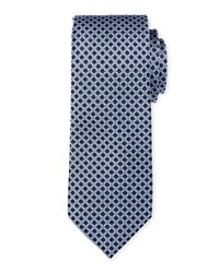 Neiman Marcus Small Circles Silk Tie Blue Pattern