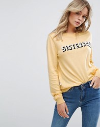 New Look Sisterhood Yellow Sweater Yellow