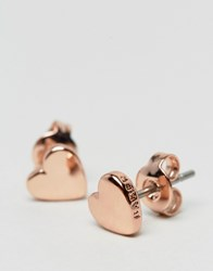 Ted Baker Harly Tiny Heart Stud Earrings Rose Gold