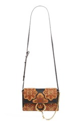 Chloe Small Faye Studded Leather And Suede Crossbody Bag Black