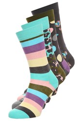 Happy Socks 4 Pack Lilac Turquoise