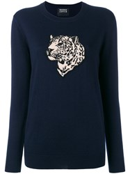 Markus Lupfer Sequin Tiger Sweater Blue