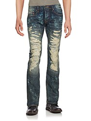 Cult Of Individuality Distressed Cotton Jeans Steampunk