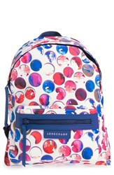 Longchamp 'Small Le Pliage Neo Fantaisie' Canvas Backpack