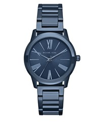 Michael Kors Hartman Ion Plated Stainless Steel Bracelet Watch Blue