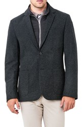 7 Diamonds Men's Transit Casual Blazer Black