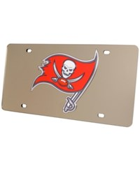Rico Industries Tampa Bay Buccaneers Acrylic Laser Tag License Plate Cover Silver Red