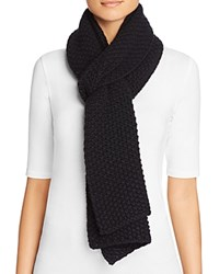 Bloomingdale's C By Popcorn Knit Scarf Black
