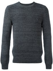 A.P.C. Chunky Knit Jumper Blue
