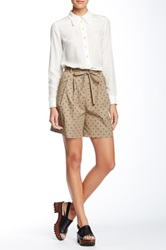 Orla Kiely Rhino Print Shorts Brown